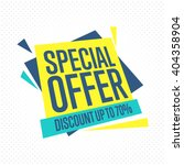 special offer sale tag discount ... | Shutterstock .eps vector #404358904