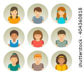 kids of different races round... | Shutterstock .eps vector #404360818