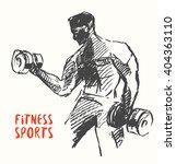 hand drawn illustration of... | Shutterstock .eps vector #404363110