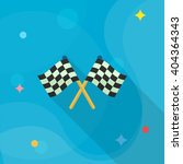 checkered flag flat  icon with... | Shutterstock .eps vector #404364343