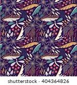 seamless floral pattern. vector ... | Shutterstock .eps vector #404364826