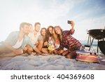 happy friends taking selfie... | Shutterstock . vector #404369608