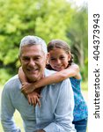 close up of smiling grandfather ... | Shutterstock . vector #404373943