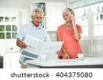 senior man reading newspaper... | Shutterstock . vector #404375080