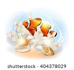 clownfish in the sea.... | Shutterstock .eps vector #404378029