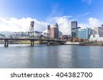 tranquil water with cityscape... | Shutterstock . vector #404382700