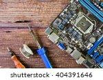 computer repair concept. close... | Shutterstock . vector #404391646