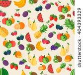 flat fruits seamless pattern.... | Shutterstock .eps vector #404393329