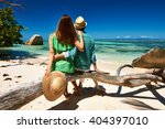 couple relaxing on a tropical... | Shutterstock . vector #404397010