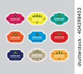 earth day badges labels.... | Shutterstock .eps vector #404398453