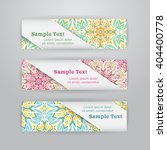 set of three horizontal banners ... | Shutterstock .eps vector #404400778