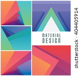 colorful material design... | Shutterstock .eps vector #404405914