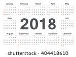 Vector Circle Calendar 2018....