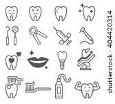 dental tooth icons. vector... | Shutterstock .eps vector #404420314