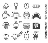 dental tooth icons. vector... | Shutterstock .eps vector #404420320