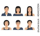 set of the vector avatar... | Shutterstock .eps vector #404422504