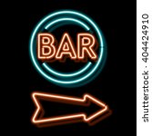 retro neon sign with the word... | Shutterstock . vector #404424910