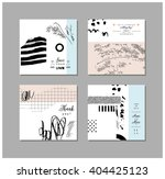 set of artistic creative... | Shutterstock .eps vector #404425123