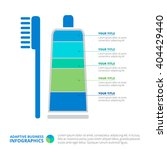 toothpaste infographic diagram... | Shutterstock .eps vector #404429440