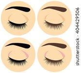 closed eye icon. vector...   Shutterstock .eps vector #404429506