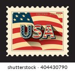 usa   postage stamp with... | Shutterstock .eps vector #404430790