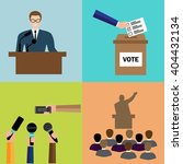 politics  voting and elections... | Shutterstock .eps vector #404432134
