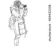 sketch of people  vector... | Shutterstock .eps vector #404432338
