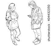 sketch of people  vector... | Shutterstock .eps vector #404432350
