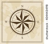 vector wind rose on a world map ... | Shutterstock .eps vector #404443498
