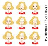 isolated set of female avatar... | Shutterstock .eps vector #404445964