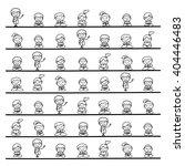 set of hand drawing cartoon... | Shutterstock .eps vector #404446483