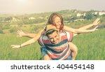 beatiful caucasian couple doing ...   Shutterstock . vector #404454148