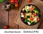 pasta salad with tomato ... | Shutterstock . vector #404461990