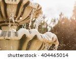 Stone Fountain Splashes