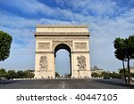 beautiful  view of the arc de... | Shutterstock . vector #40447105