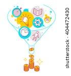 funnel flow concept. modern... | Shutterstock .eps vector #404472430
