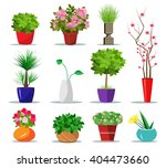 set of colorful flowerpots for... | Shutterstock .eps vector #404473660