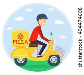 pizza or food delivery concept. ... | Shutterstock .eps vector #404474608