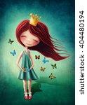 little fairy girl with...   Shutterstock . vector #404480194