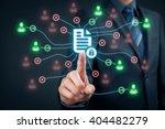 corporate data management... | Shutterstock . vector #404482279