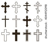 big set of christian orthodoxy... | Shutterstock .eps vector #404492098