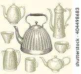 tea and coffee. design set.... | Shutterstock .eps vector #404498683