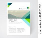 brochure  leaflet  flyer ... | Shutterstock .eps vector #404501350