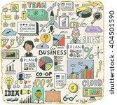 funny doodle business set.... | Shutterstock .eps vector #404501590