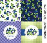blueberry seamless pattern set. ... | Shutterstock .eps vector #404504698