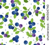 blueberry seamless pattern on... | Shutterstock .eps vector #404504740