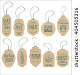 vintage style sale tags design | Shutterstock .eps vector #404505316