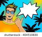 young handsome surprised blond... | Shutterstock .eps vector #404510830