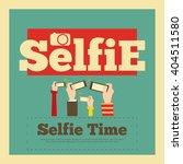 selfie poster. flat design.... | Shutterstock .eps vector #404511580