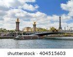 Tourist Boat At The River Seine ...